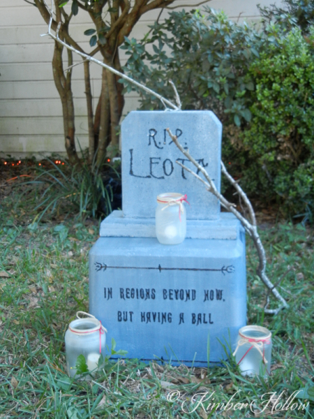 A tombstone for Madam Leota from Disney's Haunted Mansion